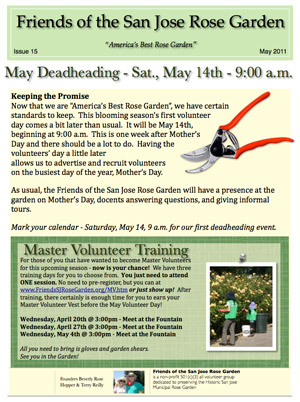 Friends of the San Jose Rose Garden Newsletter #15