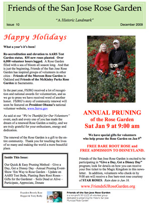 Friends of the San Jose Rose Garden Newsletter #10