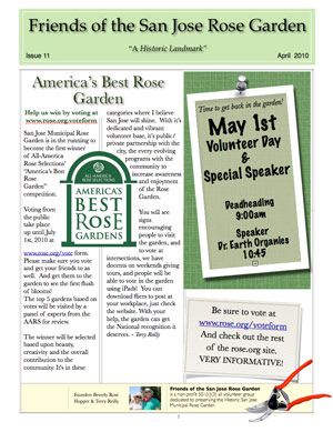 Friends of the San Jose Rose Garden Newsletter #12