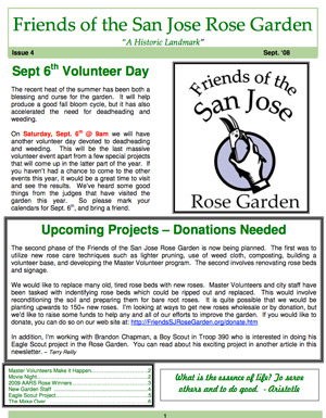 Friends of the San Jose Rose Garden Newsletter #4