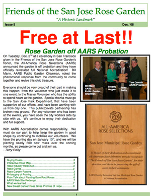 Friends of the San Jose Rose Garden Newsletter #5