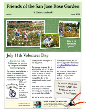 Friends of the San Jose Rose Garden Newsletter #8